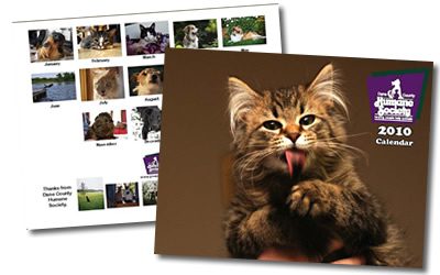 Humane Society, Calendar Sample