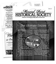 Mineral Point Historical Society, Newsletter Sample