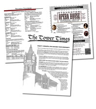 Tower Times, Newsletter Sample
